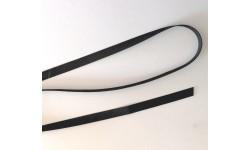 Élastique laminette caoutchouc 8mm Noir