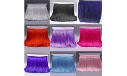 Galon de franges fil 15 cm - plusieurs couleurs