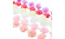 Fleur applique décorative tissus 3D 5,5 cm x1