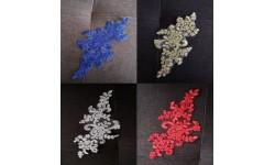 Applique X1 guipure fleur dentelle 22,5 X 12