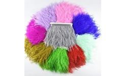 Galon ruban plume imitationa autruche - 8/10 cm - plusieurs couleurs